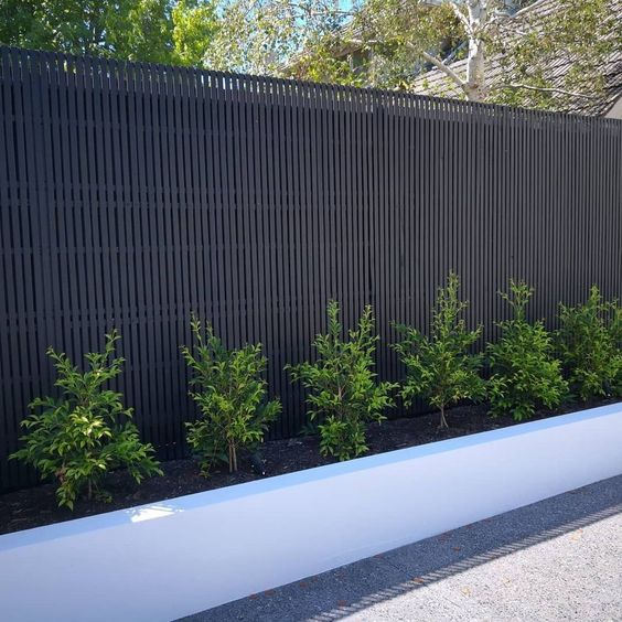 black fence ideas 10