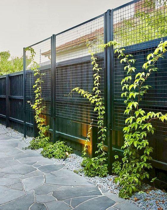 black fence ideas 11