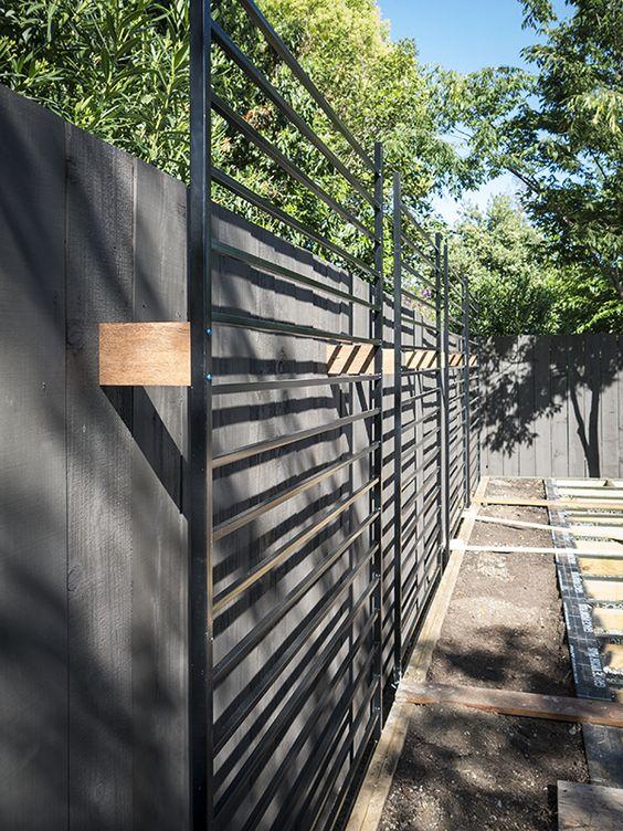 black fence ideas 12