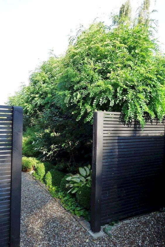 black fence ideas 18
