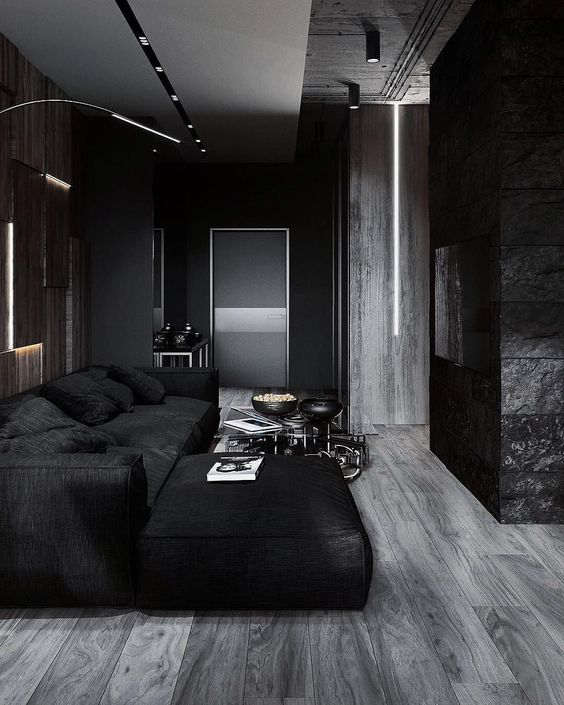 Black Living Room: 25+ Elegantly Bold Ideas with Distinctive ...