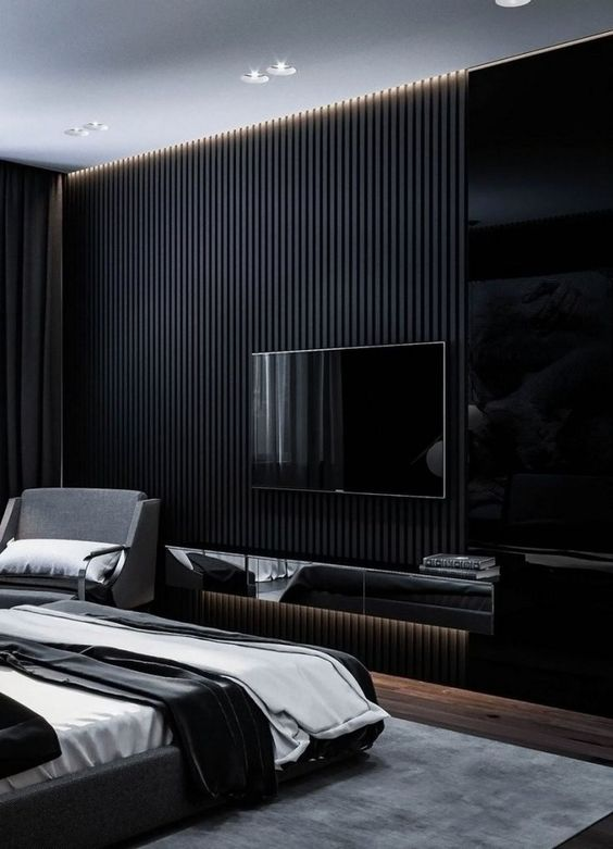 black living room ideas 11