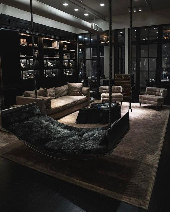 black living room ideas 12