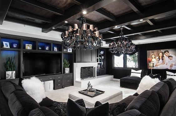 black living room ideas 13