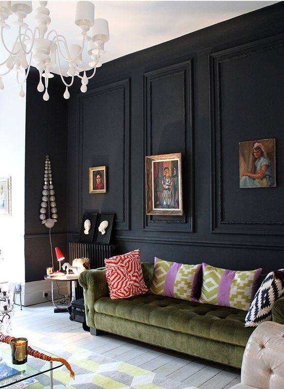 black living room ideas 16