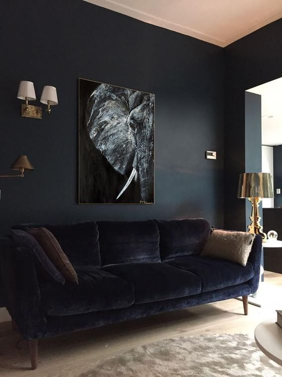 black living room ideas 17