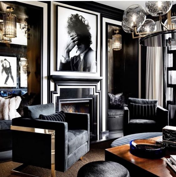 black living room ideas 21