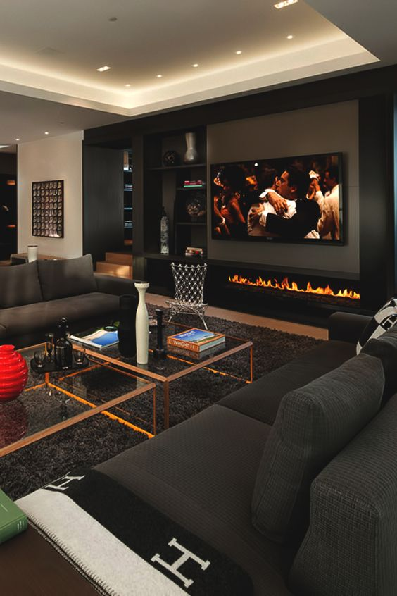 black living room ideas 22