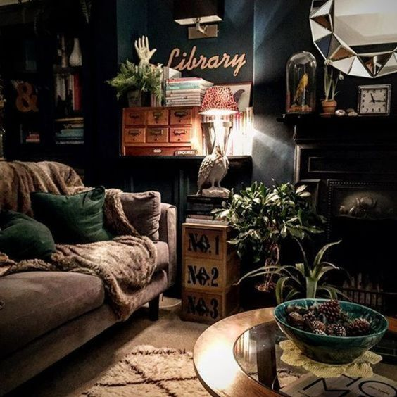 black living room ideas 24