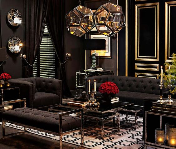 black living room ideas 25