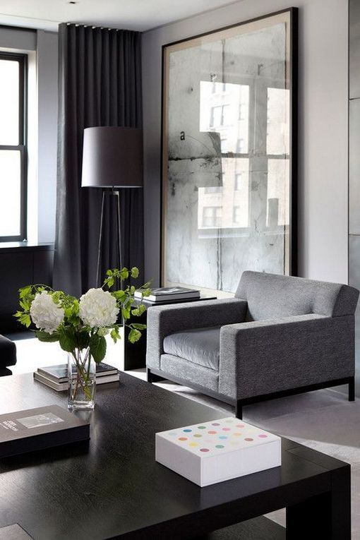 Black Living Room: Brightly Elegant Decor