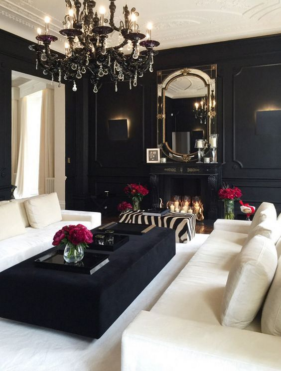 Black Living Rooms: Stunning Eclectic Decor