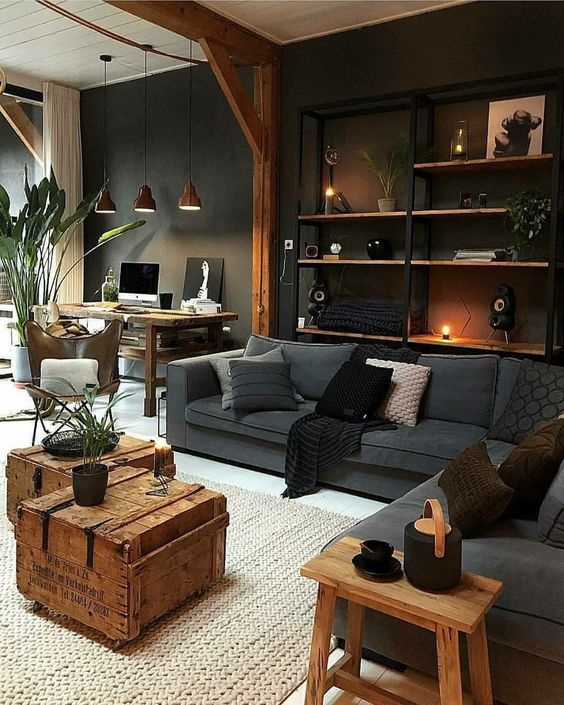 Black Living Rooms: Elegant Earthy Decor