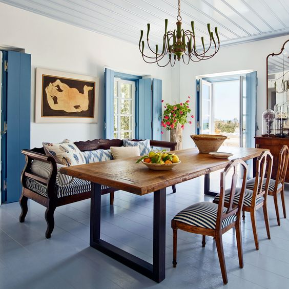 blue dining room ideas 16