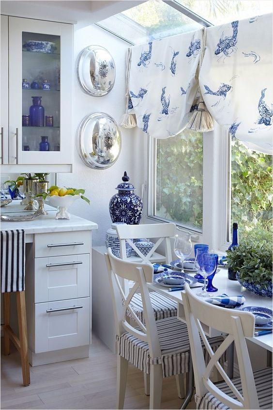 Blue Dining Room: Catchy Nautical Decor