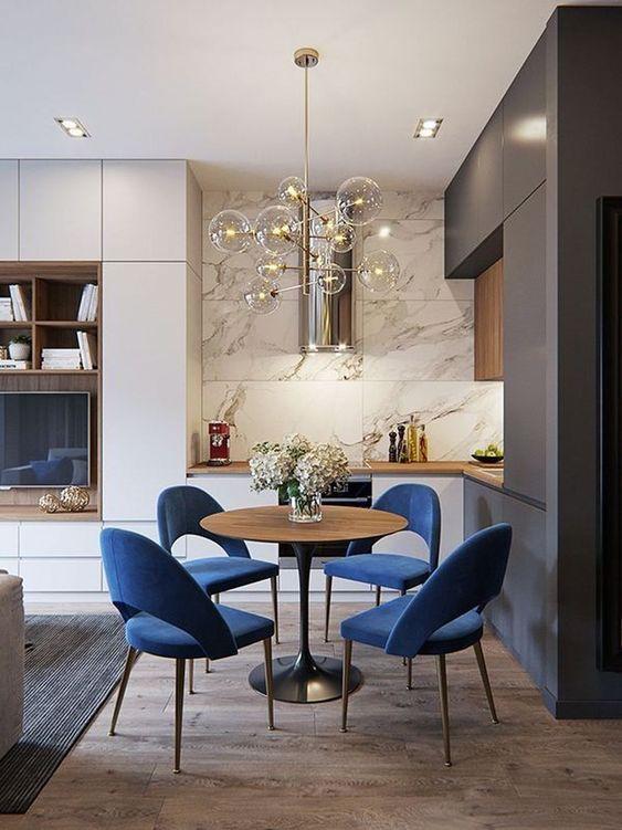 blue dining room ideas 22