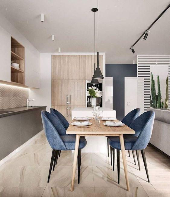 blue dining room ideas 23