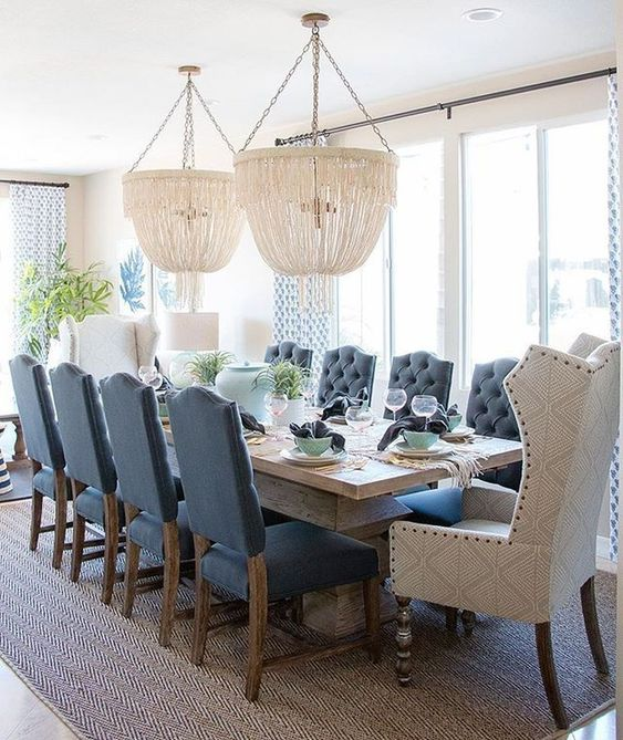 Blue Dining Rooms: Gorgeous Nautical Decor