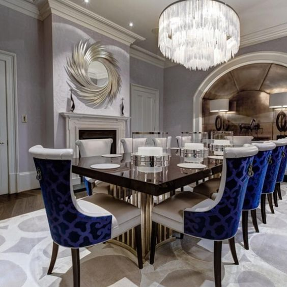 Blue Dining Rooms: Fascinating Glamorous Decor