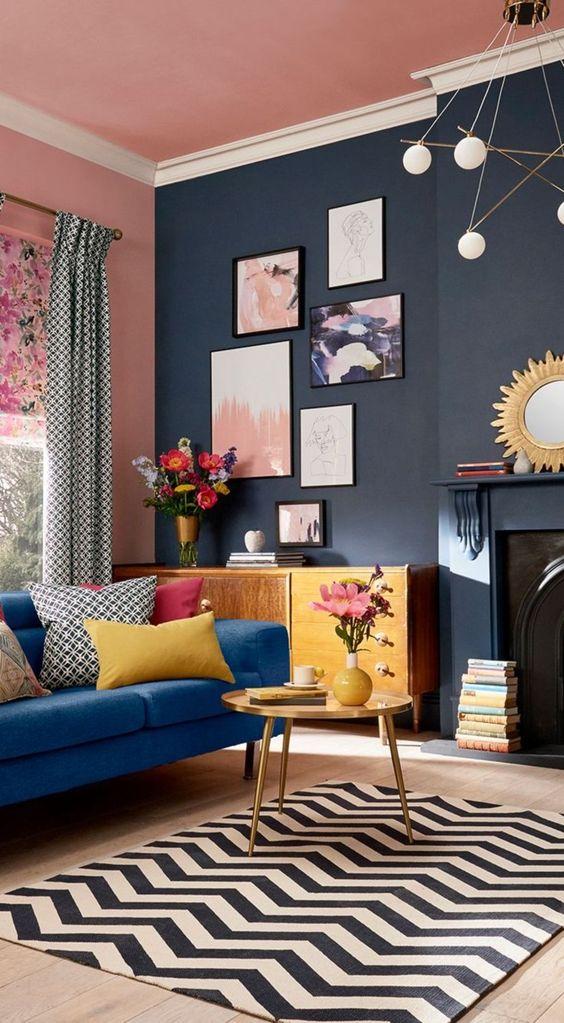 Bright Living Room: Elegantly Colorful Decor