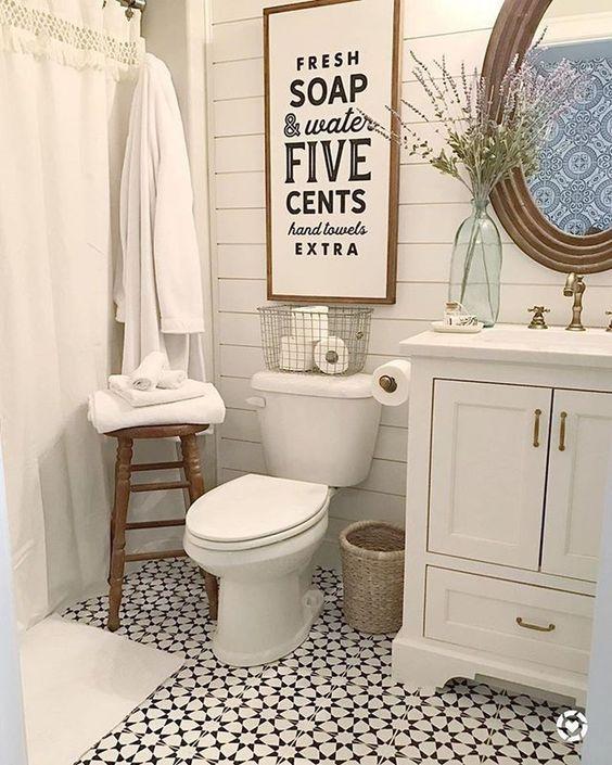 Farmhouse Bathroom Ideas 25 Beautiful