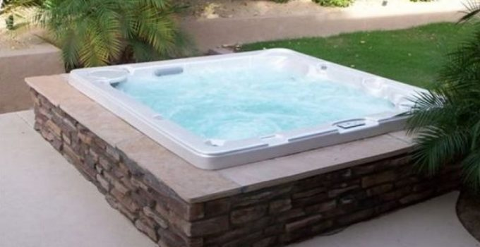 modern hot tub feature