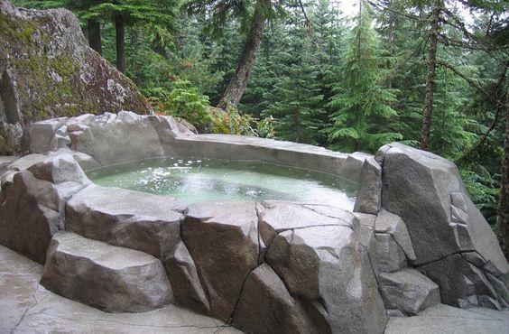 Natural Hot Tub: Elegant Earthy Design