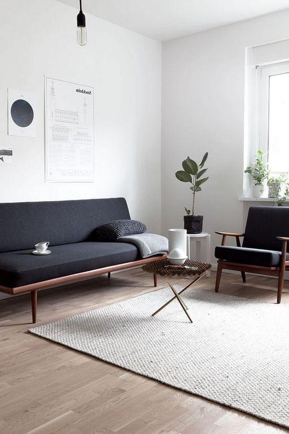 Scandinavian Living Room: Elegant Bold Decor