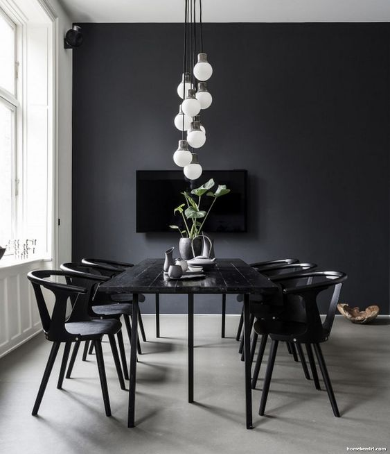 Transitional Dining Rooms: Stylish Monochrome Decor