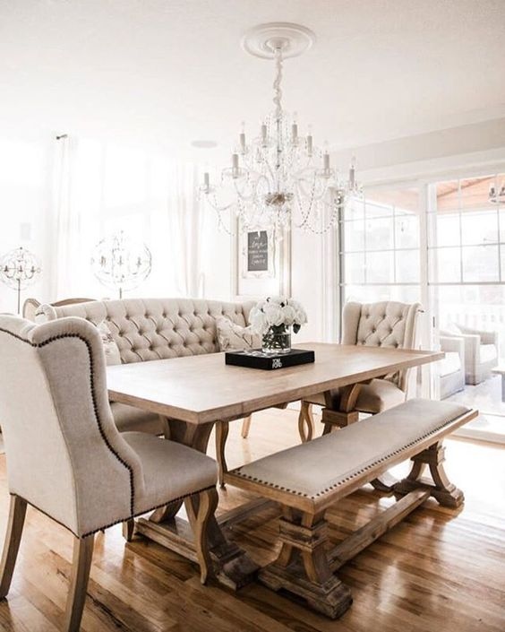 transitional dining room 13