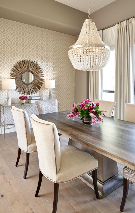 transitional dining room 16