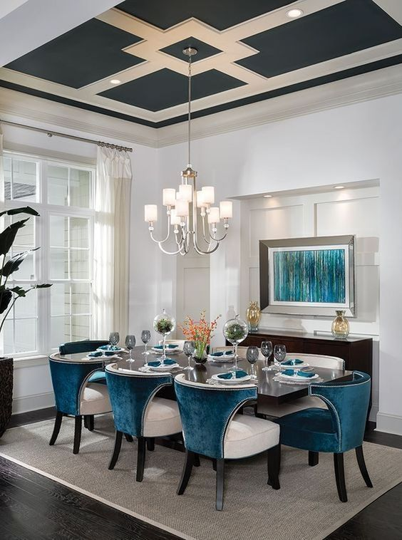 transitional dining room 18