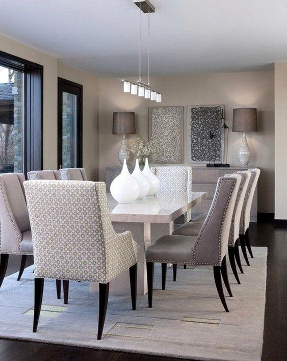 transitional dining room 19