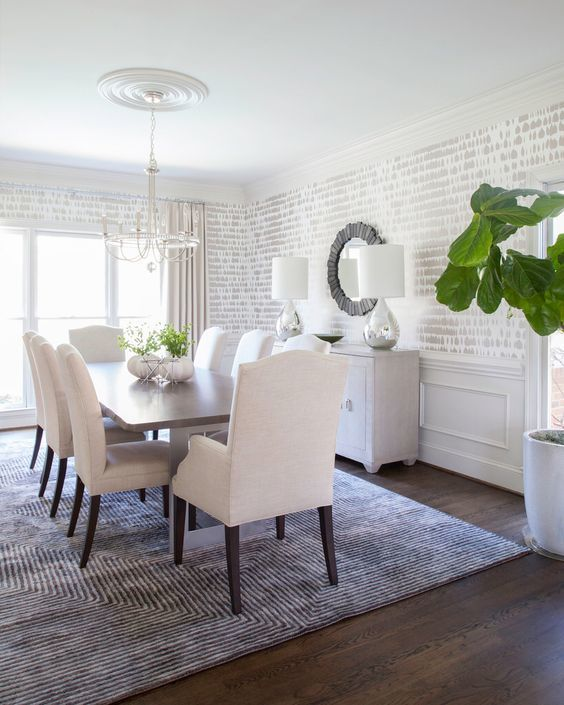 Transitional Dining Room: Cathy Neutral Decor