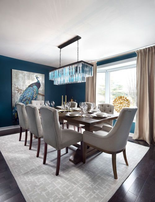 Transitional Dining Room: Elegantly Bold Decor