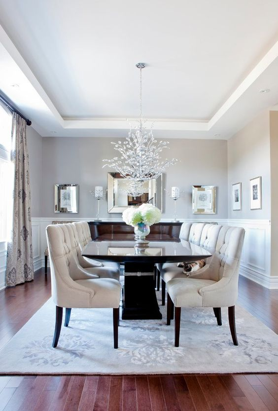 Transitional Dining Room: Brightly Warm Nuance