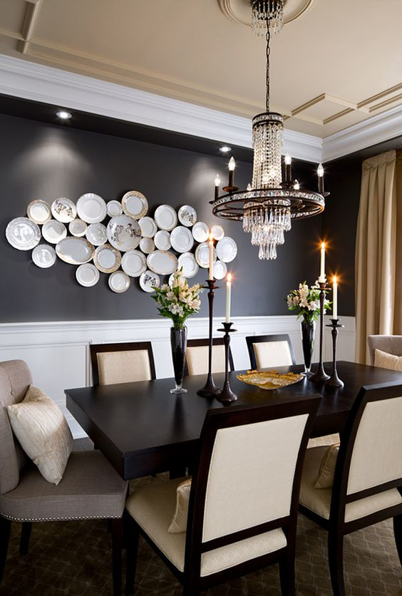 Transitional Dining Rooms: Classy Monochrome Decor
