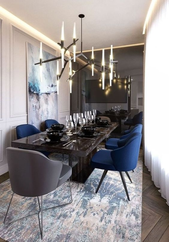 Transitional Dining Rooms: Elegantly Glamorous Decor