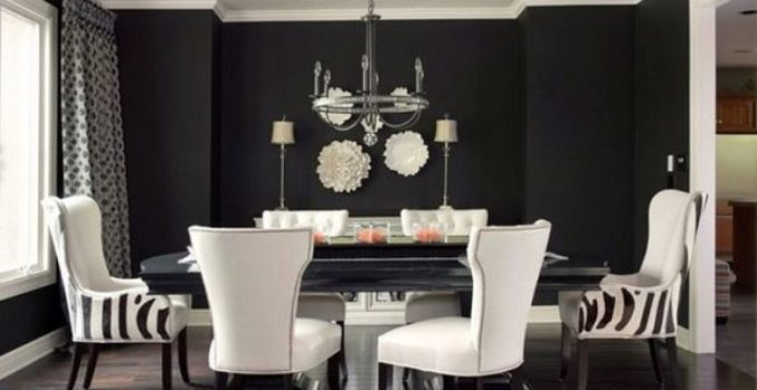 transitional dining room feature