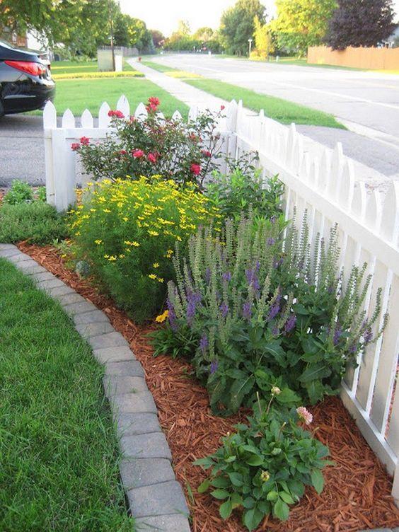 white fence ideas 11
