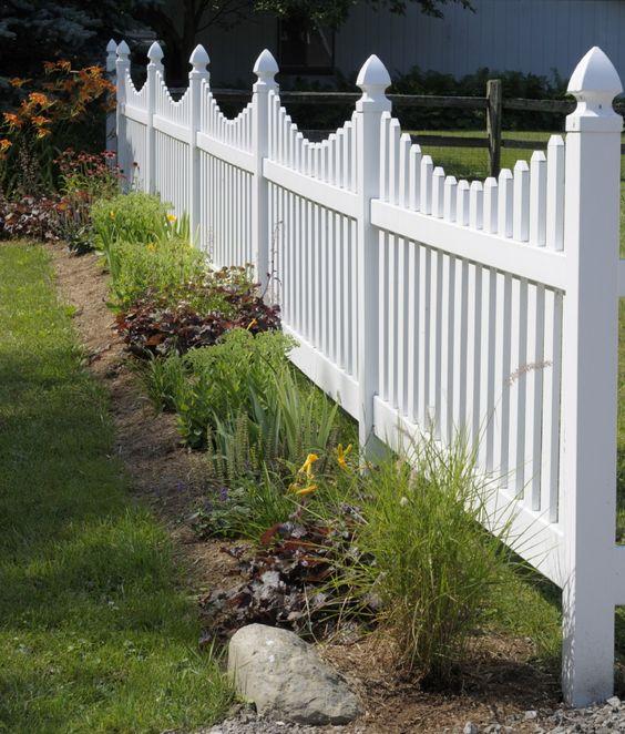 white fence ideas 13
