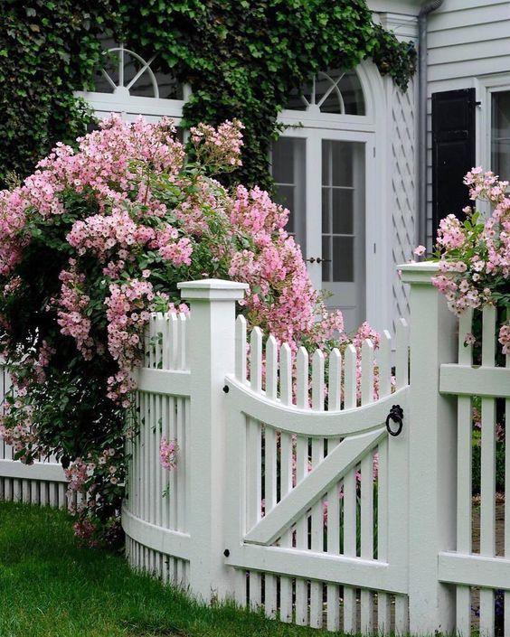white fence ideas 15
