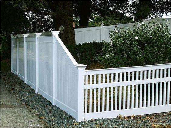 white fence ideas 22