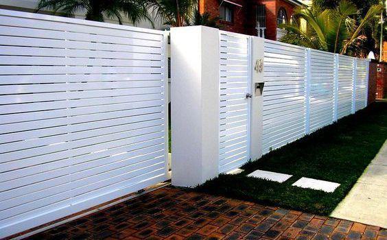 white fence ideas 23