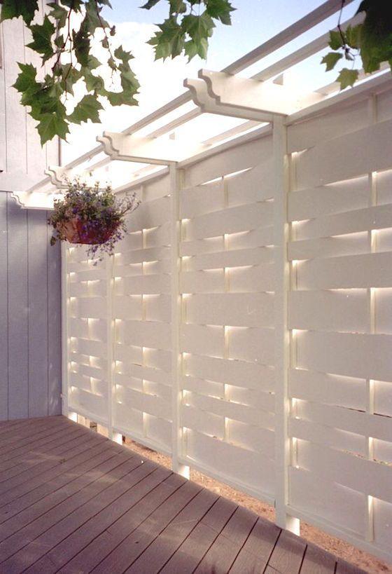 white fence ideas 25