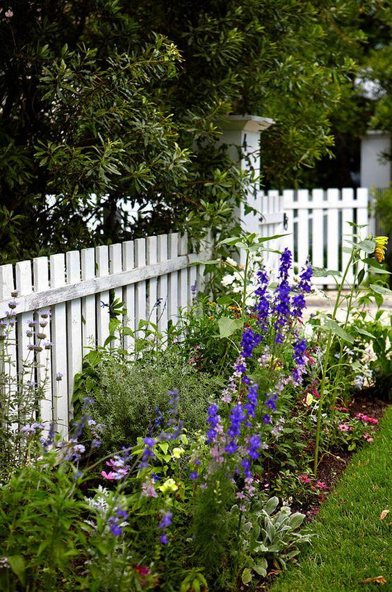 white fence ideas 9