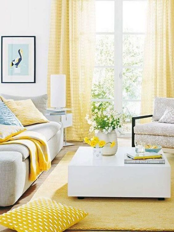 Yellow Living Room: Brightly Beautiful Decor