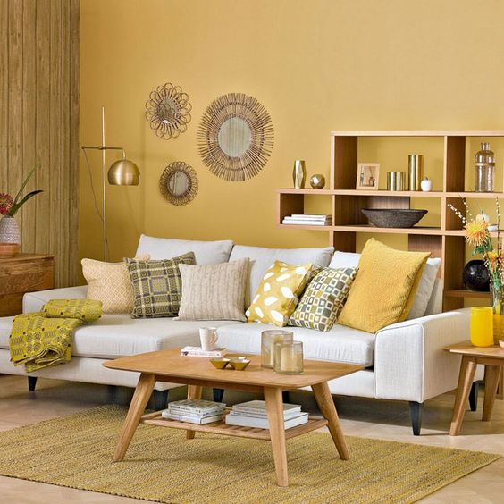 yellow living room ideas 14