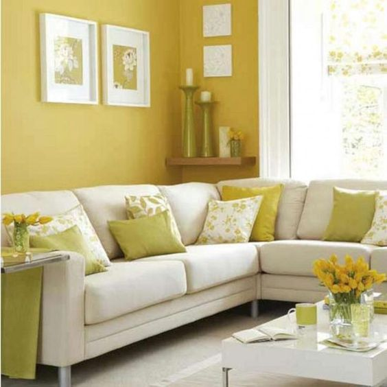 yellow living room ideas 17
