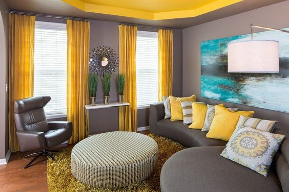 yellow living room ideas 19